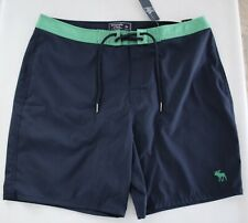 "ABERCROMBIE & FITCH Men's Stretch 7"" Inseam Swim Board Shorts size 34 New"