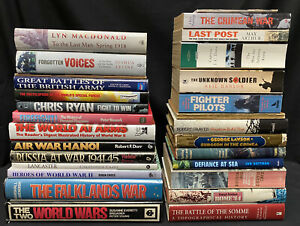 Job Lot Collection Of 30 Military History Reference Biography Books JL17