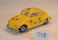 Majorette 1/60 Nr. 202 203 VW Volkswagen 1302 Käfer Beetle gelb mit Dekor #798