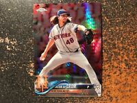 Jacob DeGrom Mets 2018 Topps Chrome PRISM REFRACTOR #143