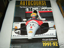 AUTOCOURSE 1991 92 EXCEPTIONAL AYRTON SENNA NIGEL MANSELL MCLAREN MP5/6 COLONI