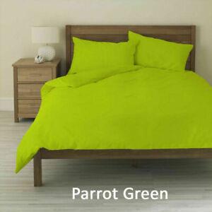 """Parrot Green Solid Round Bedsheet Set 15"""" Deep Pocket All US Diameter Mattress"""