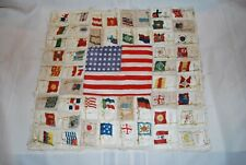 New listing Antique Tobacco Silks Quilt Cigarette Silks 53 City Country Flags 48 Stars on Us