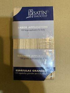 NEW!! Satin Smooth - Large Applicators for Facial Hair (100 Large Applicators)
