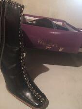 Paprika Uptown Black Heel Boots(Size10)