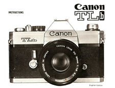 1970s CANON TLb SLR 35mm CAMERA OWNERS INSTRUCTION MANUAL