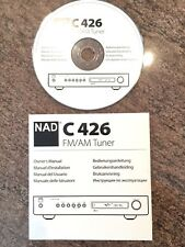 NAD C 426 Tuner Owners manual on CD C426  Instructions Owner's