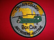 US 178th Aviation Company (ASH) BOX CAR ANYWHERE ANYTIME Vietnam War Patch