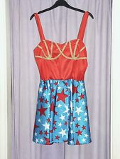 Women's 80's  Wonder Woman Fancy Dress Costume  UK 14 (b)