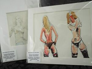 Peter Collins RCA 2 Unsigned  Drawings Female Nudes Risqué~Life Studies/Portrait