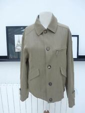 GENUINE HERMES MEN JACKET WOOL RAIN PROTECTION LEATHER TRIM SIZE 48/M PERFECT