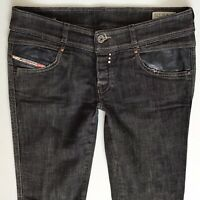 Ladies DIESEL Rokket Black Skinny Faded Jeans size W30 L32 Size 10 (636)