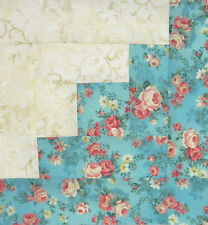 {-16-} Pre-Sewn Already Pieced Log Cabin Quilt Blocks ~ Traditional Floral