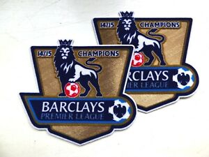 CHELSEA 2014-15 EPL CHAMPIONS BADGES PATCHES (PAIR) REPLICA SIZE SPORTING ID.
