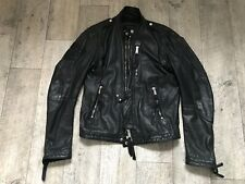 Dsquared Masterpiece Lederjacke Leather Jacket 52 Top Schwarz