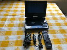 "Magnavox 7"" Inch Portable DVD Player Swivel Screen Plug In Battery Play MTFT716n"