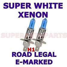 FITS ROVER 75 TOURER BLUE VISION 2002-2004 SET H1  XENON SUPER WHITE LIGHT BULBS