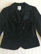 ❤️MOSCHINO❤️Upscale Designer RARE Black Tuxedo Blazer 4 Mod Femme Luxury