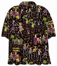 Day of the Dead Mariachi Hawaiian Camp Shirt by David Carey