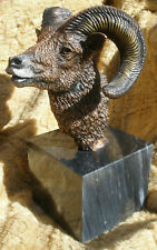 Bighorn sheep ram sculpture Mountain Majesty Cantrell Legends mixed media bronze