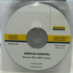 NEW HOLLAND BOOMER 4055, 4060 TRACTORS SERVICE MANUAL ON CD