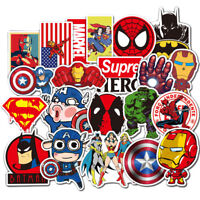 50pc Cartoon Marvel Super Hero Graffiti Stickers Skateboard Luggage Laptop Decal
