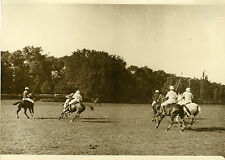 """MATCH de POLO à BAGATELLE 1931"" Photo originale G. DEVRED / Agce ROL"
