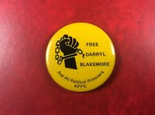 Pin Badge Button FREE DARRYL BLAKEMORE And All Political Prisoners KPPC. SCARCE!