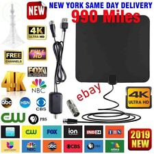 990 Miles Outdoor Flat HD Amplified TV Antenna with Amplified HDTV 1080P 4K 13ft