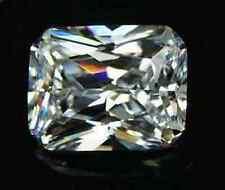 9.44ct Unheated WHITE SAPPHIRE 10x12MM Emerald SHAPE AAA COLOR LOOSE GEMSTONE