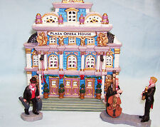 Lemax Lighted Christmas Village Houses - 2001 OPERA HOUSE with Box & Accessories