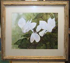 Walter H. Brooks '60s Realist WC of Flower Listed Connecticut Artist & Designer