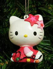 KURT S. ADLER HELLO KITTY w/ CHRISTMAS LIGHTS CHRISTMAS TREE ORNAMENT