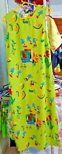 Woman's Summer Beach Dress Size 10 Rope Waist 100% Polyester Mid Calf Btm Slits