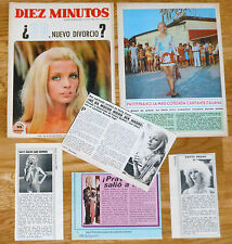PATTY PRAVO magazine articles spanish clippings 1960s photos italian singer
