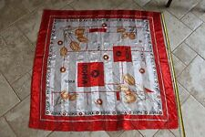 """Light Weight Scarf black red white Roma Tulips 39"""" square"""