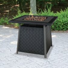 UniFlame 32-in. Square Propane Gas Outdoor Fire Pit with FREE Cover