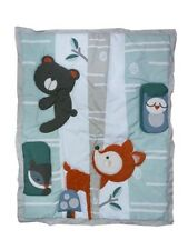 Forest Animals Applique Baby Crib Comforter Rare - See Details