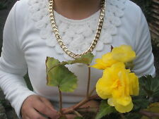 OFERTA 61cm 8mm chapado en oro cadena sin piedras COLLAR, Día del Padre
