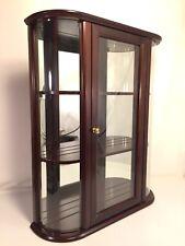 Bombay Company Curved Glass Curio Cabinet Knick Knack Vintage 3 Shelf Display