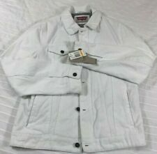 Levis Mens NEW Heavy Canvas Fleece Lined White Trucker Style Jacket Small NWT