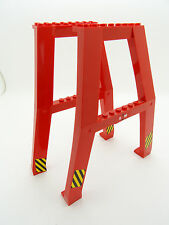 Lego - 2 x Red Crane Support - A-Frames