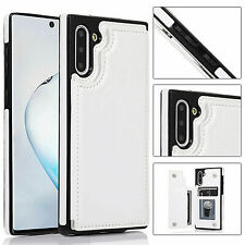 Note 10 / Plus Case Cover Leather Magnetic Wallet Kickstand for Samsung Galaxy