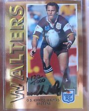 1994 Rugby League Dynamic Series 1 Gold Signature Card 5 Kerrod Walters Brisbane