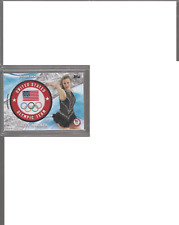 2018 Topps Olympic Ashley Wagner Commemorative Insignia card #59/99