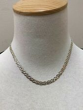 """Chain Necklace 18"""" Sterling Silver Dyadema Woven"""