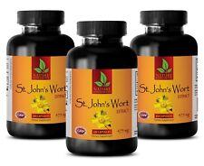 brain focus - ST. JOHN'S WORT EXTRACT - anti anxiety pills - 3 Bottles