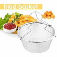 22cm Deep Fry Basket Stainless Steel Net Round , Fryer / Deep Frying / Chips  AU