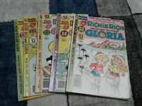 Richie Rich Harvey Comic Lot of 5 Gloria