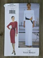 Vintage 90's Vogue Pattern 7020 Sz 8, 10, 12 Business Evening Dress